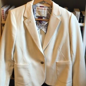 Cartonnier Anthropologie cream blazer Dalmatian